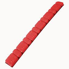 5 x Barrette pesi adesivi colore ROSSO Contrappesi equilibratura cerchi moto