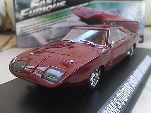 Fast-and-Furious-Dom-039-s-1969-DODGE-Charger-Daytona-Diecast-Auto-1-43-Greenlight