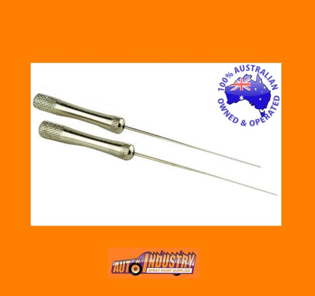 2 x QUALITY DIRT REMOVAL NEEDLE S .PICKUP INSECTS ETC OUT OF WET PAINT CLEARCOAT