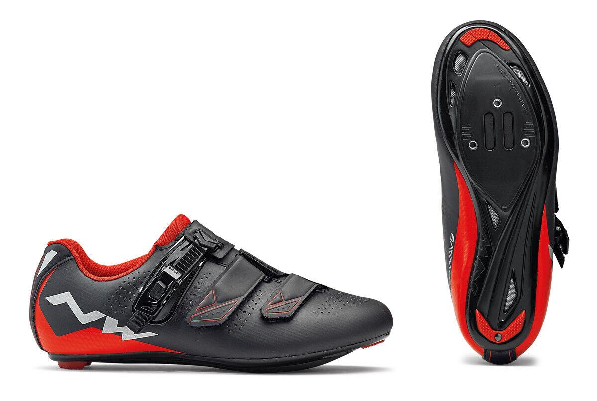 Northwave Verve 2 SRS señora bicicleta bicicleta zapatos negro rojo 2018