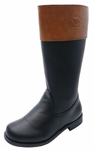 GIRLS-BLACK-ZIP-UP-RIDING-BOOTS-KIDS-SMART-CASUAL-CHILDRENS-BOOTS-SHOES-UK-12-3