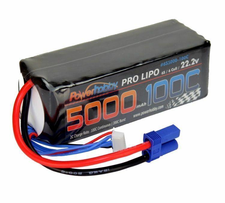 Power Hobby - 5200mAh 22.2V 6S 100C LiPo Battery w  EC5 Connector