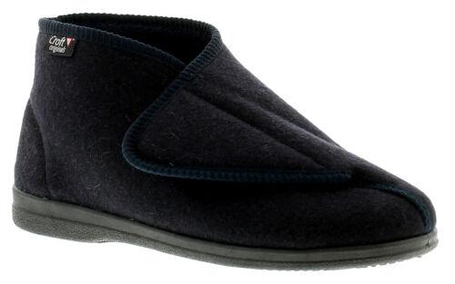 Croft Originals Gregg Mens Full Slippers Blue UK Size