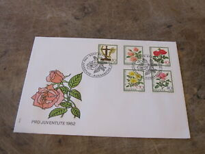 1982-Switzerland-FDC-Cover-Pro-Juventute-Flower-interest