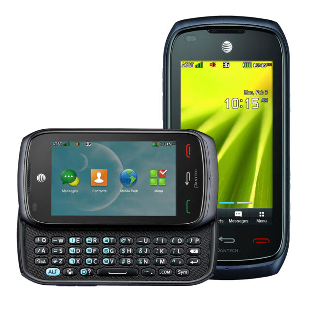 GSM UNLOCKED Pantech Vybe P6070 Slider QWERTY AT&T Branded Phone