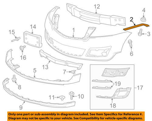 Chevrolet GM OEM Traverse Front Bumper Grille Grill-Mount Bracket Right 25826191