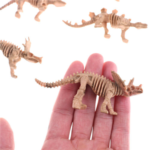 12X Various Plastic Dinosaurs Fossil Skeleton Dino Figures Kids Toy Gift HQ