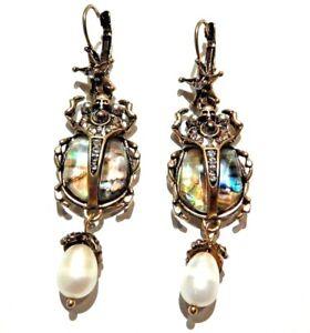 Mode-Ohrschmuck Uhren & Schmuck Perlen Ohrringe Natürliche Muschel Flower Drop Dangle Unerreichlich geometrisch