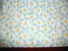 YELLOW & BLUE FLOWERS ON BABY BLUE COTTON QUILT FABRIC