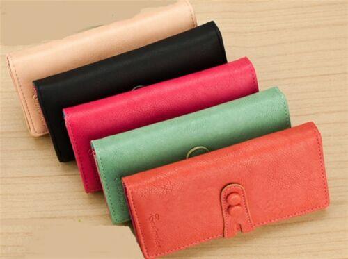 Soft Ladies Clutch Coin Wallet Long Purse Zip Purse Inside Choose Your Colour