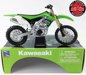Kawasaki-KXF-450-1-12-moto-Mx-Motocross-Norev-Jouet-Modele-Velo-New-Ray