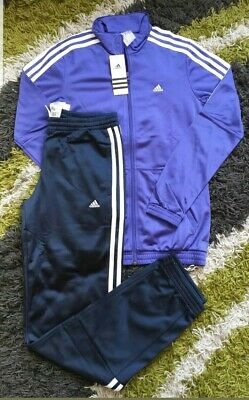 Adidas Junior Girls Tracksuit Top Jacket Age UK 4-9 Years