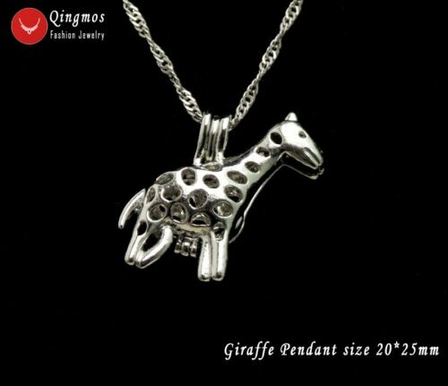Wish Pearl Oyster Box 20*25m Giraffe Cage Pendant Chokers Women Necklace-who3650