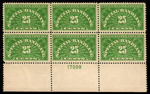 US-QE4-1925-25c-Special-Handling-PB6-MNH-F-VF-CV-525