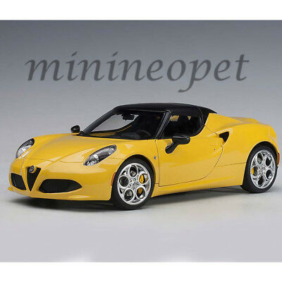 ALFA ROMEO 4C SPIDER BIANCO TROFEO// WHITE 1//18 MODEL CAR BY AUTOART 70141