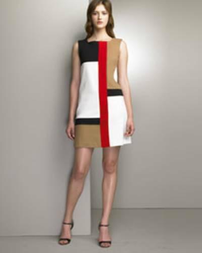 Diane Von Furstenberg 10 Mondrian Dress color bloc