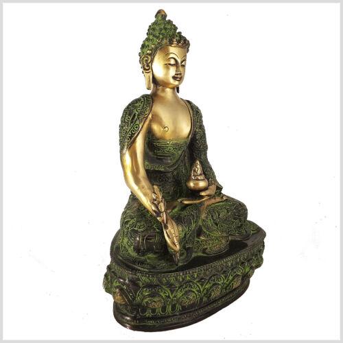 Medizinbuddha Messing 33 cm ca.4 KG Nepal Tibet Indien Buddhismus Medizin Buddha