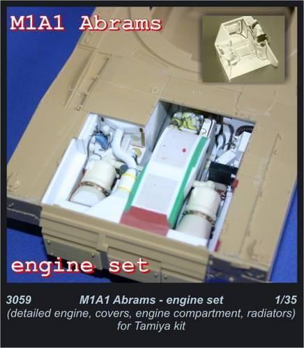 Czech Master 1  35 MA1 Abrams - gränssnitt för Tamiya kit