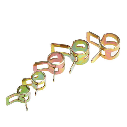 50Pcs Spring Fuel Water Line Hose Pipe Air Tube Fastener Clamps Clip 5//6//7//8//9mm