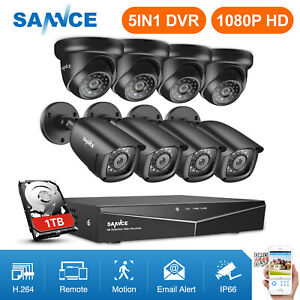 SANNCE-8CH-5IN1-DVR-1080P-HDMI-Outdoor-IR-Night-CCTV-Security-Camera-System-US