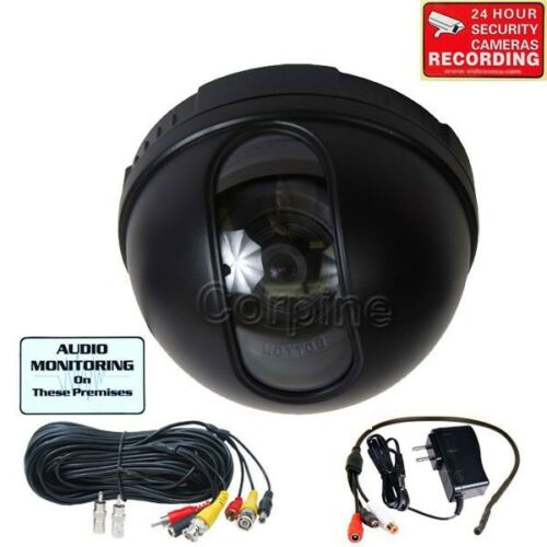 Dome Security Camera w SONY CCD Audio Mic Wide Angle CCTV Video Surveillance MIR