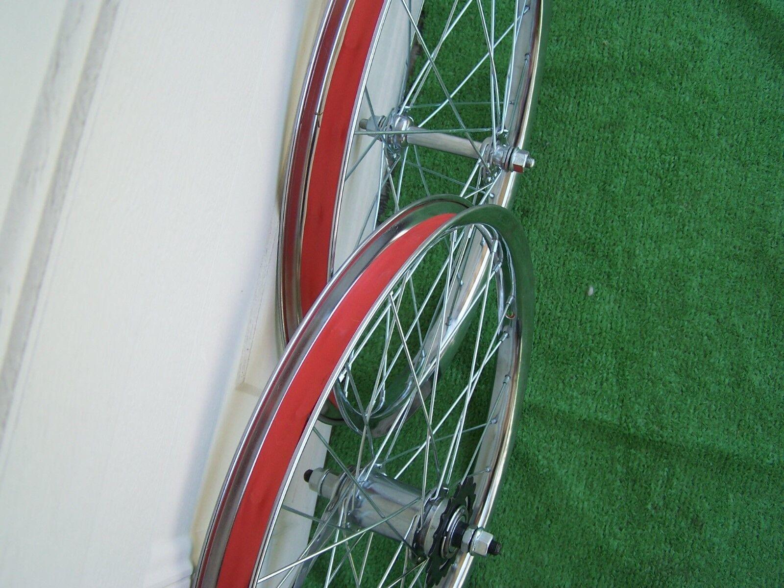 Par De 20 X 175/2.125 Whee Acero Cromo Montaña Bicicleta Whee 175/2.125 Set Freno Frontal Nuevo 961a15