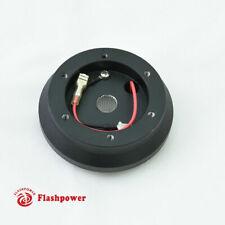 Steering Wheel Short Hub Adapter Billet Black For Honda Civic Crx Acura Integra