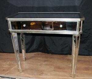 Mirrored Hall Console Table Side Tables Mirror Deco Furniture eBay