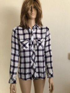 66d26ad0 Women's NWT Maison Jules Plaid-Print Button-Front Top Blouse Size X ...