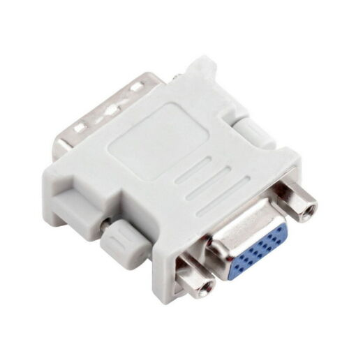 DVI-I Dual Link Male 24+5 to VGA Female 15pin Adapter Converter Convertor for PC