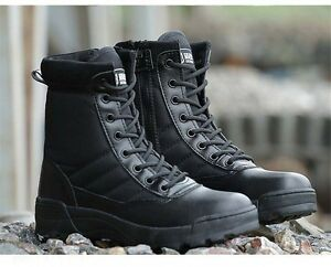 dae020eb12f Men s Tactical Ankle Boots Outdoor High top Military Combat Safety ...