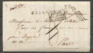 1821-Lettre-en-Franchise-de-Florence-Italie-taxee-puis-034-a-Detaxer-034-P5186