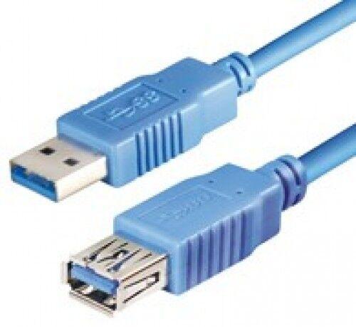 2m usb 3.0 verlängerung extension kabel a-stecker buchse superspeed 5-gbps blau
