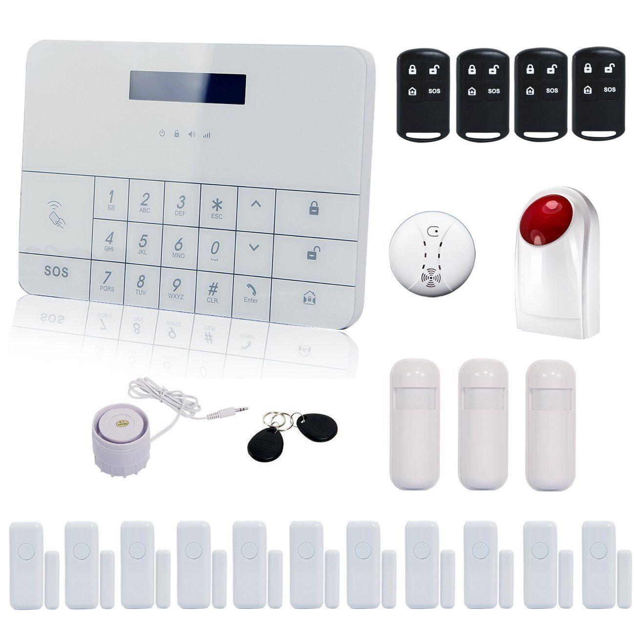 Funk GSM Alarmanlage Komplett Set Haus Touch SMS Anruf Wireless Bewegungsmelder