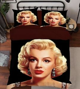 3D Monroe 748 Bett Kissenbezüge steppen Duvet Decken Set Single DE Carly