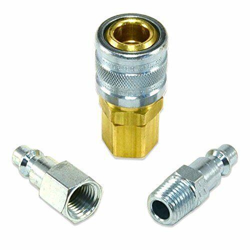 "Industrial Interchange Foster I//M 3pc Coupler /& Plug Kit 1//4/"" Body 1//4/"" NPT"