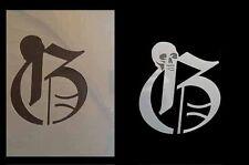 Airbrush Schablone I007 Schädel/Skull Initiale G
