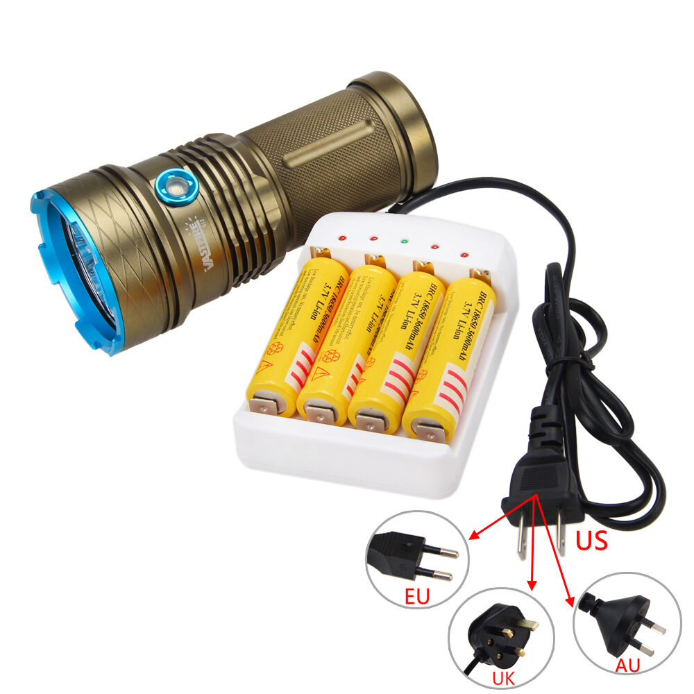 VASTFIRE 35000LM 12 XML T6 LED Taschenlampe LED Torch Flashlight 4x18650 Lampe