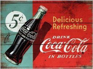 Kleiner Cola Kühlschrank : Coca cola in bottles nostalgie kühlschrank magnet 6x8 cm tin sign