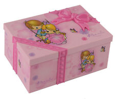 Ballerina Girl Music Box Children Musical Jewelry Box Rectangle Case Pink Gift