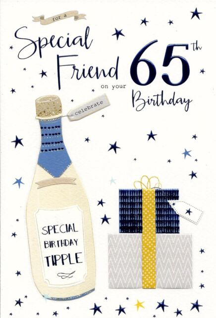 For A Special Friend 65th Male Birthday Card Ebay