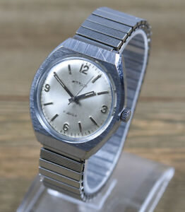 Vintage-WESTCLOX-Men-039-s-Stainless-Steel-Manual-Wind-Men-039-s-Watch