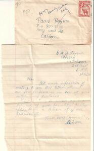 Details about Gold Coast 1955 cover/letter E K A Akornor via Pokuase to  actress Paula Raymond