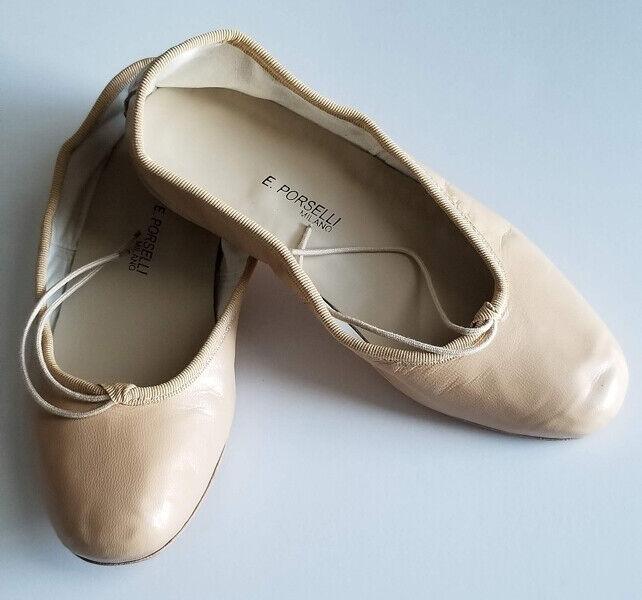 Porselli - Ballet flats size  EUR 36, US 6, light tan - BRAND NEW