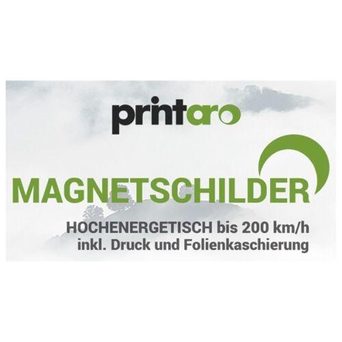 Folienkaschierung Digitaldruck 2 x Magnetschilder// Magnetfolie 70x35cm  inkl