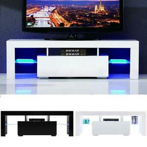 """51"""" Wood High Gloss LED TV Stand Entertainment Furniture Center Console Cabinet"""