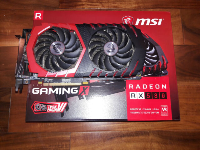 MSI Gaming X 8gb - RX 580 TWIN FROZR 31MHS Modded Great gaming or mining card!!
