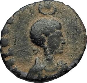 EUDOXIA-Arcadius-Wife-401AD-Authentic-Ancient-Roman-Coin-VICTORY-CHI-RHO-i67696