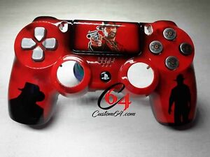 Coque Manette PS4 Custom red dead redemption 2