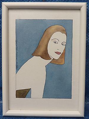 Weiblicher Akt Halbakt Gemälde Kubismus